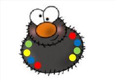 Kleurenspel (gekleurde wasknijpers op de juiste kleur zetten): oefenen kleine motoriek (LaLaLien) Bugs And Insects, Early Learning, Spinning, Cardmaking, Spider, Crafts For Kids, Doodles, Clip Art, Holiday Decor