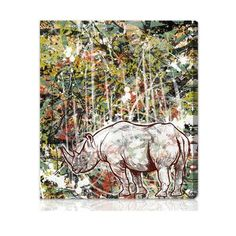 "World Menagerie Wild Graphic Art on Wrapped Canvas Size: 17"" x 20"""