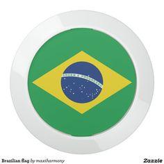 Brazilian flag USB charging station