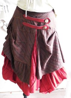 Rustic Petticoat Layered Skirt by bonzie on Etsy