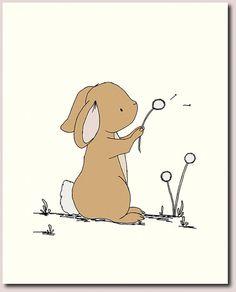 Bunny Nursery Art Woodland Nursery Decor por SweetMelodyDesigns