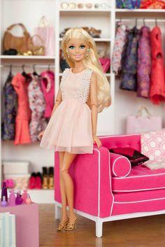 Barbie in her closet