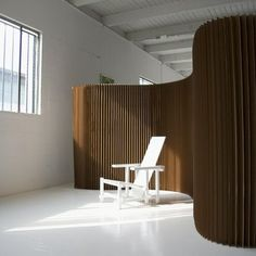kraft paper softwall by molo - softwall is a freestanding partition that can be expanded and contracted to freely shape intimate space within larger open space.