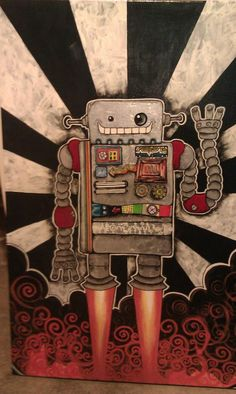 Robot painting! Sold for $200