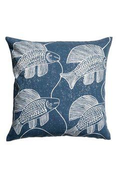 Eläväpintainen tyynynpäällinen - Tummansininen/Kalat - Home All | H&M FI