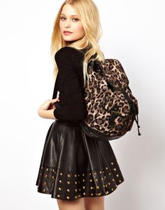 New Look Leopard Backpack $33.92
