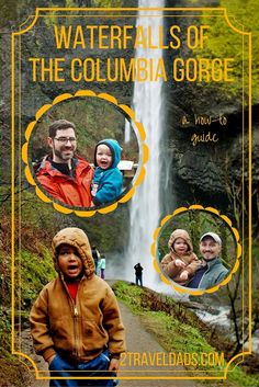 A How-to Travel guide to visiting the Waterfalls of the Columbia Gorge. Between Portland and Hood River, Oregon lies an awesome collection of cascades and hiking trails. 2traveldads.com