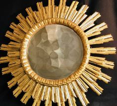 Gold Sun mirror wall decor large Sunburst mirror Gold mirror Golden mirror Round mirror Hollywood regency Sunshine mirror Starshine mirror
