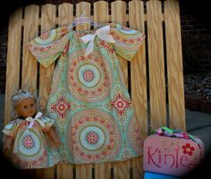 Girl's Boutique Peasant Dress & Matching Doll by KinleasKloset, $45.00
