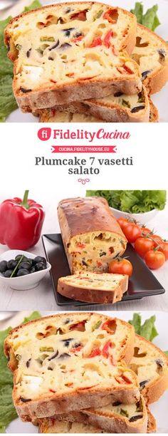 Plumcake 7 vasetti salato Raw Food Recipes, Italian Recipes, Cooking Recipes, Antipasto, Food Design, Muffins, Good Food, Food Porn, Brunch
