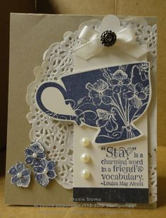 Stampin' Up! Tea Shoppe  by Stasia Sloma