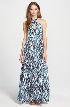 Amour+Vert+Halter+Maxi+Dress+available+at+#Nordstrom