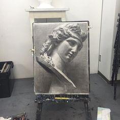 Sculpture Art, Roman Sculpture, Pencil Drawings, Art Drawings, Art Sketches, Portrait Sketches, Still Life Drawing, Academic Art, Painting Process