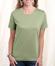 LA T Ladies' Combed Ring-Spun T-Shirt 3580 Pale Green