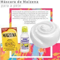 Receita caseira de máscara de soro fisiológico e maizena no rosto para controlar a oleosidade, o brilho excessivo e ajudar a fechar poros dilatados!