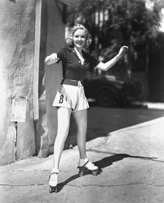 Betty Grable on skates