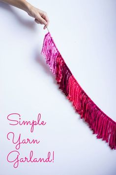 DIY yarn garlands - so simple and sweet! || Design Improvised blog