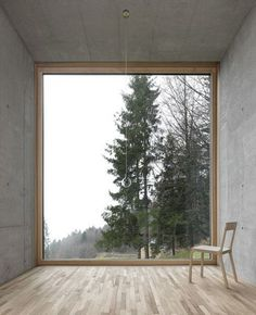 Oskar Leo Kaufmann - House R, Schnepfau 2012 (prev). Via, photos (C) Adolf Bereuter. Architecture Design, Minimalist Architecture, Window View, Window Wall, Attic Window, Windows And Doors, Big Windows, Shop Windows, My Dream Home
