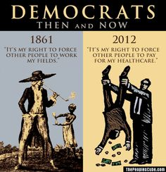 If only the African American population was aware of the history of Democrats and civil rights they would see that they are still being ensnared in slavery.