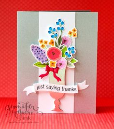 gorgeous inspiration by Jennifer McGuire! Wplus9 - Fresh Cut Florals _ Video: Lovely Stamps