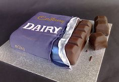 Dairy Milk Bar Cake by SmallThingsIced #EasyPin
