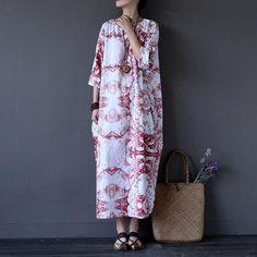 "SKU:XIM0176Material:cotton linenSeason:summerTwo pocketsno LinedSize:Free sizeLength: 123 cm/ 48.43 ""Shoulder : 41 cm/ 16.14 ""Bust: 158 cm/ 62.20 ""Sleeve Length"
