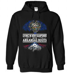 Living in New Hampshire with Arkansas Roots-wrvqqxorfa - #bridesmaid gift #gift for men. PRICE CUT => https://www.sunfrog.com/States/Living-in-New-Hampshire-with-Arkansas-Roots-wrvqqxorfa-Black-Hoodie.html?68278