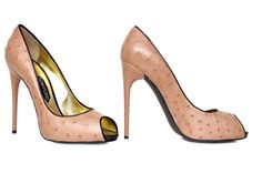 Gorgeous Ostrich Leather Peep Toes, by Tom Ford