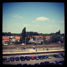 Station herentals met uitzicht op ijzergieterijstraat