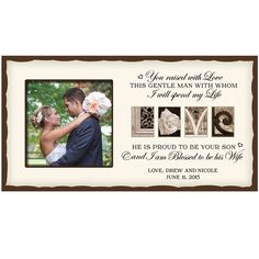 Personalized Wedding Photo Frame for Parents with Love art design - 62599 Wedding Gifts For Parents, Custom Wedding Gifts, Personalized Wedding, Gifts For Dad, Personalized Gifts, Gift Wedding, Wedding Couples, Wedding Photos, Personalized Photo Albums