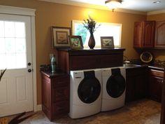 My final Laundry room!  Custom built by my husband Tab Shumway!!