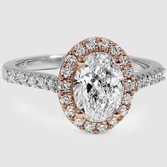 18K White Gold Serenity Diamond Ring // Set with a 1.01 Carat, Oval, Very Good Cut, E Color, VVS2 Clarity Diamond #BrilliantEarth