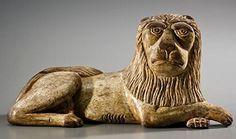 Recumbent lion, Bucks County, Pennsylvania, circa 1830.
