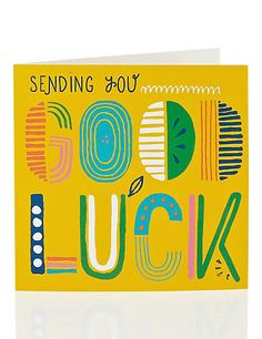 Abstract Graphics Good Luck Card Home