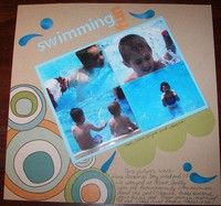 Swimming Fun--A Project by bcarson from our Scrapbooking Gallery originally submitted 10/08/07 at 08:15 PM
