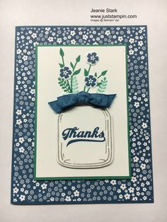 Today I have a set of thank you cards to share with you (and one lucky winner). I am back home after moving my daughter to college and as promised I will announce the winner of the Candy Jar Conte…