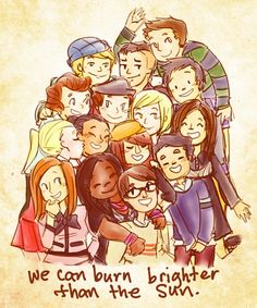 we can burn brighter than the sun. #glee