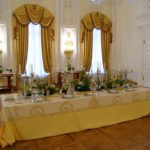 Signature table setting at Petroff Palace for the gala event by White Sposa Russia. Design, concept and flower arrangements by Fabio Zardi Luxury Wedding, Destination Wedding, Event Planning, Wedding Planning, Wedding Ceremony, Reception, Meeting Planner, Wedding Decorations, Table Decorations