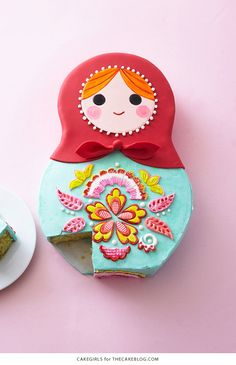 Learn How To Make A Russian Doll Cake In Our Step by Step Tutorial! Perfect for … Learn How To Make A Russian Doll Cake In Our Step by Step Tutorial! Perfect for a Baby Shower or First Birthday Party. Pretty Cakes, Cute Cakes, Beautiful Cakes, Amazing Cakes, Yummy Cakes, Flower Pot Cake, Ice Cake, Cake Blog, Matryoshka Doll