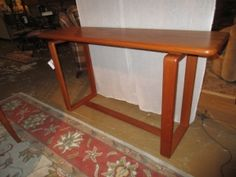 """Price: $449.99Item #: 40531 Scan Design sofa table. Could be used in a living room or small dining room as we have it displayed. Measurements are 54"""" long x 15"""" deep x 30"""" high. Great price!"""