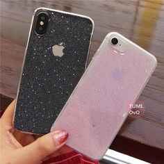 Simple Transparent Bling Glitter Stars Circle Cover TPU Phone Case For iPhone 6 7 8 Plus X Solf Silicone Phone Cases Back New Mobile Phones, New Phones, Gaming Headset, Refurbished Phones, Iphone 6, Iphone Cases, Cell Phone Plans, Silicone Phone Case, Glitter Stars
