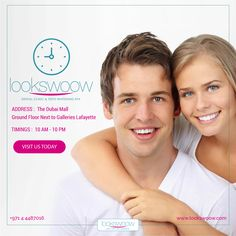 We are open 7 days a week to serve you better! Visit us to get a taste of the best dental treatment, situated at the coolest place in Dubai, The Dubai Mall. You can book your appointment online here: www.lookswoow.com OR call 04 4487016 TODAY.