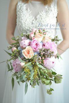 FRESH FLOWER BOUQUET Facebook: Forest for Rest Peony Bouquet Wedding, Peonies Bouquet, Fresh Flowers, One Shoulder Wedding Dress, Floral Design, Rest, Bride, Facebook, Wedding Dresses