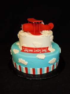 Airplane Baby Shower by Amanda's Caketastic Creations, via Flickr