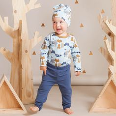 ROCK STAR baby housut, sininen | Leikkisä lasten syysmallisto 2016 on nyt saatavilla. Tee tilaus NOSH vaatekutsuilla, edustajalta tai verkosta nosh.fi (This clothing collection is available only in Finland but you can shop these wonderful fabrics online en.nosh.fi)