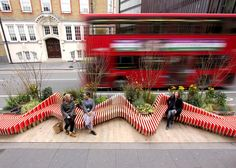 London design collective WMB Studio has created a miniature modular park that monitors air quality and offers passersby plant-covered seating