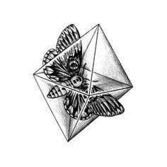 Tattify Moth In Diamond Temporary Tattoo - Crystal Moth (Set of 2)