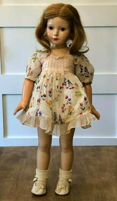 Effanbee Dolls, Anne Shirley, American Children, Brown Eyes, Vintage Dolls, Composition, Clothes, Beautiful, Outfits