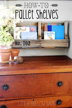 Super easy Pallet Shelves Tutorial on { lilluna.com }