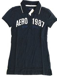 be79506d Aeropostale Womens Aero 1987 Jersey Polo xlarge navy -- You can find more  details by
